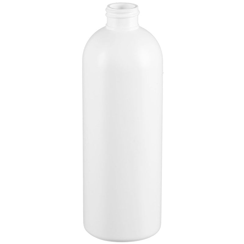 16 oz. White HDPE Plastic Bullet (Cosmo Round) Bottles (28-410)