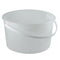 128 oz. (4 qt) Natural HDPE Plastic Tubs (Freezer Safe) w/Handle, L810