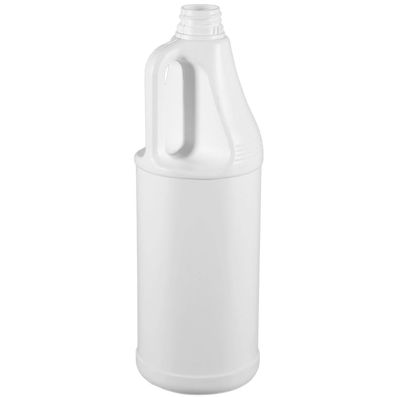 32 oz. White HDPE Plastic Handled Bottles (28-410)