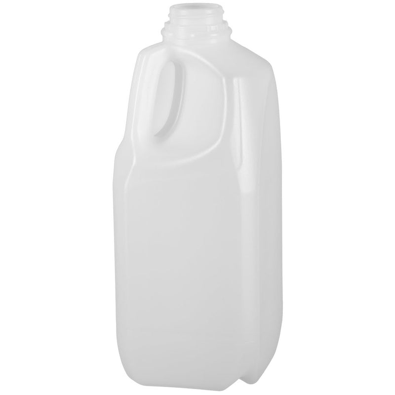 64 oz. (6 lbs.) Natural HDPE Square Plastic Honey Bottles (38-400)