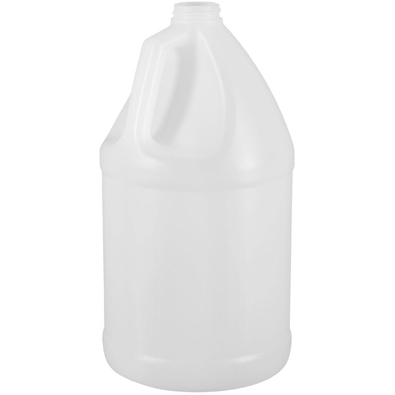 1 Gallon Natural HDPE Plastic Industrial Round Bottles (38-400)