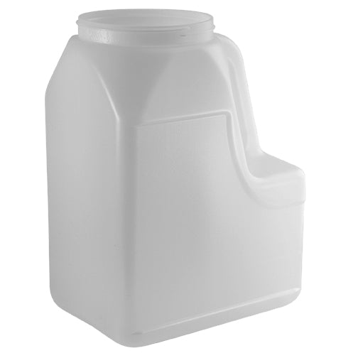 160 oz. Natural HDPE Plastic Handleware Bottle (110-400)