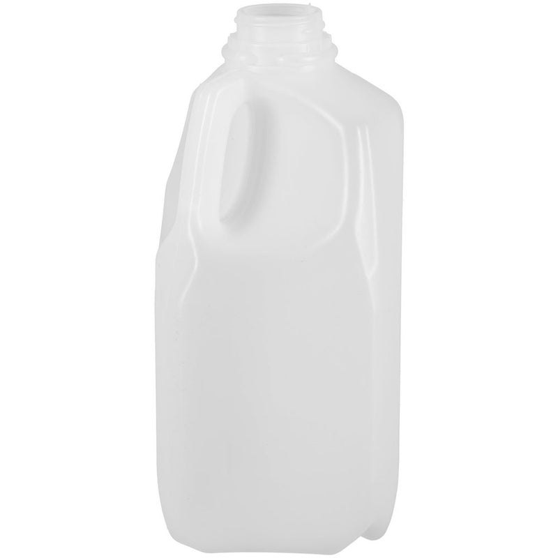 56 oz. (5 lbs.) Natural HDPE Square Plastic Honey Bottles (38-400)