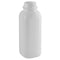 16 oz. Natural HDPE Plastic Square Dairy Bottles (38mm Snap-Screw)