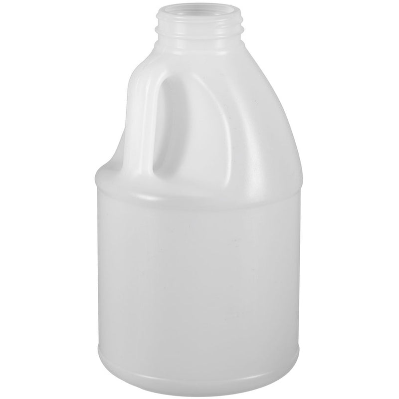 64 oz. (6 lbs.) Natural HDPE Round Plastic Honey Jugs (53-400)