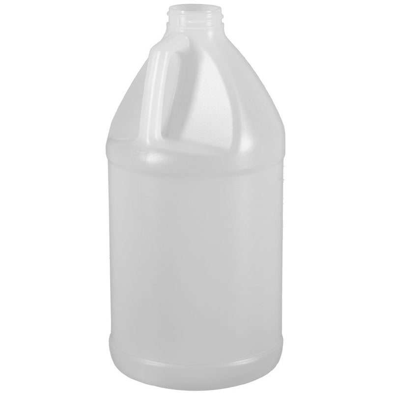 64 oz. (½ Gallon)  Natural HDPE Plastic Industrial Round Bottles (38-400)