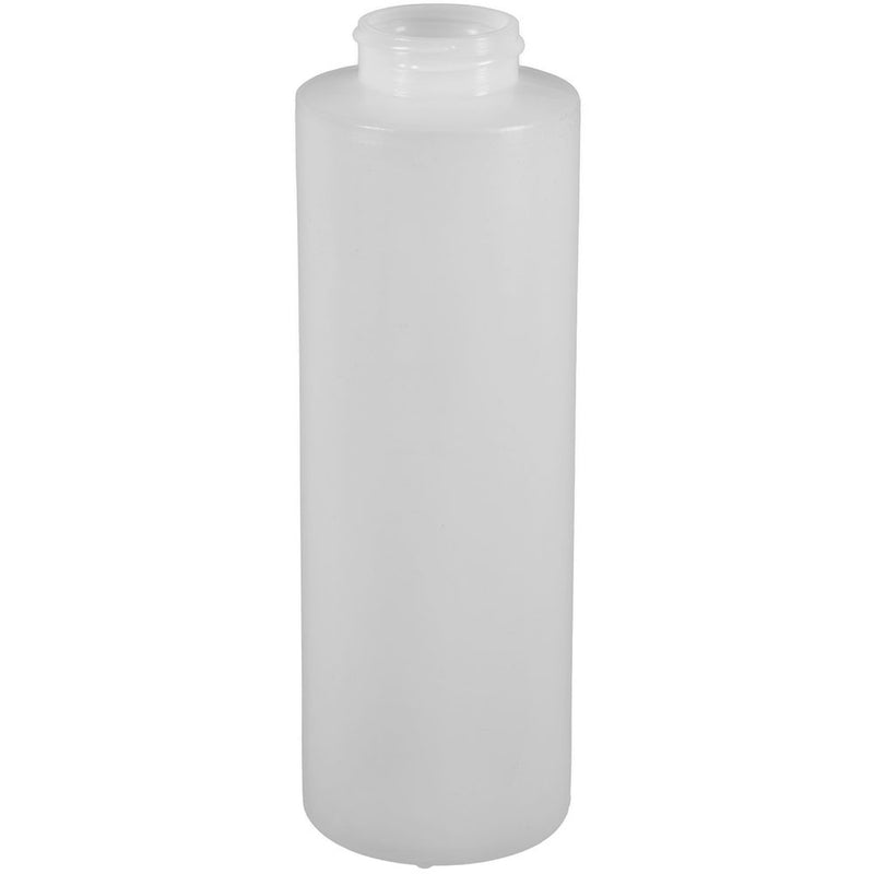 16 oz. Natural HDPE Plastic Cylinder Bottles (38-400)