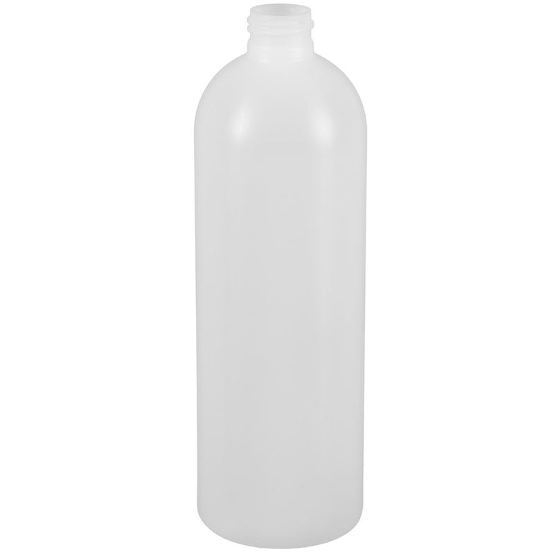 16 oz. Natural HDPE Plastic Bullet (Cosmo Round) Bottles (28-410)