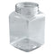 17 oz. Clear PET Square Plastic Jar