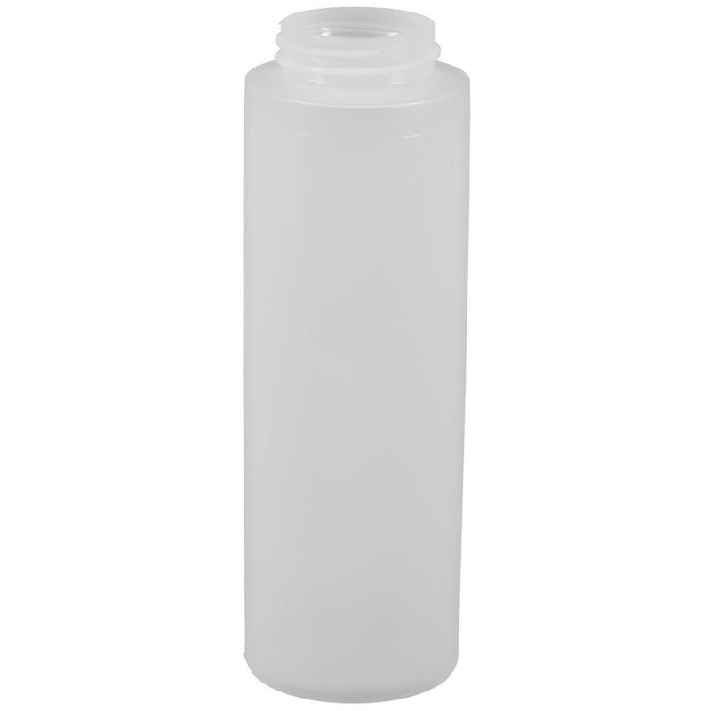 8 oz. Natural HDPE Plastic Cylinder Bottles (38-400)