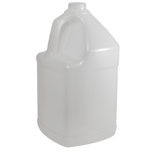 128 oz. (1 Gallon) Natural HDPE Plastic Square Bottle (38-400)