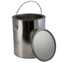 1 Gallon Metal Paint Cans, Unlined w/Ears (Bails and Lids included)