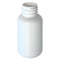 1 oz. White HDPE Plastic Boston Round Bottles (20-410)