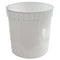 2.5 Gallon Natural HDPE Plastic Dairy Pails (FDA Approved and Freezer Safe)