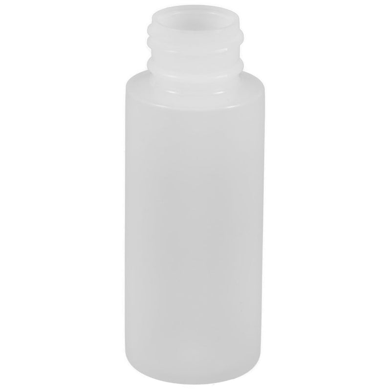 2 oz. Natural HDPE Plastic Cylinder Bottles (24-410)
