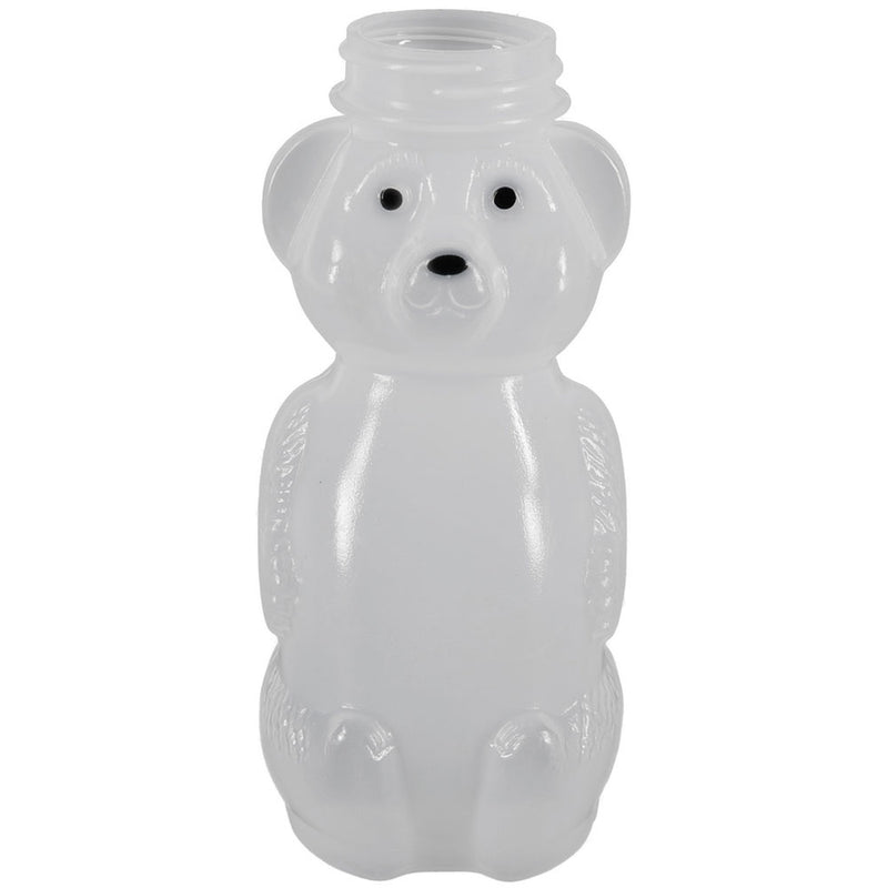 8 oz. Natural LDPE Plastic Honey Bear Bottles (38-400) Printed