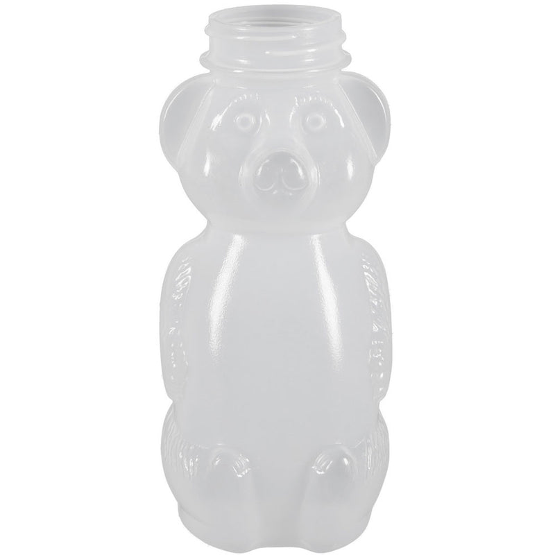 8 oz. Natural LDPE Plastic Honey Bear Bottles (38-400)