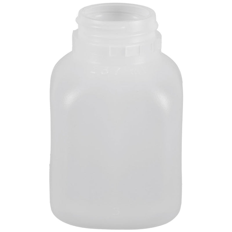 8 oz. Natural HDPE Plastic French Square Dairy Bottles (38-400)