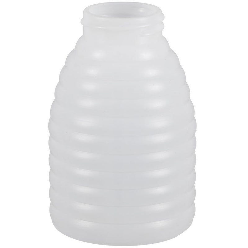 8 oz. Natural HDPE Beehive Plastic Honey Bottles (38-400)