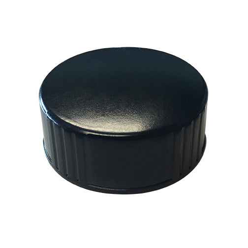 28-400 Black Phenolic Caps w/ Poly-Seal Cone Liner
