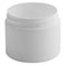 2 oz. White PP Plastic Double Wall Jars, Flat Base (58-400)