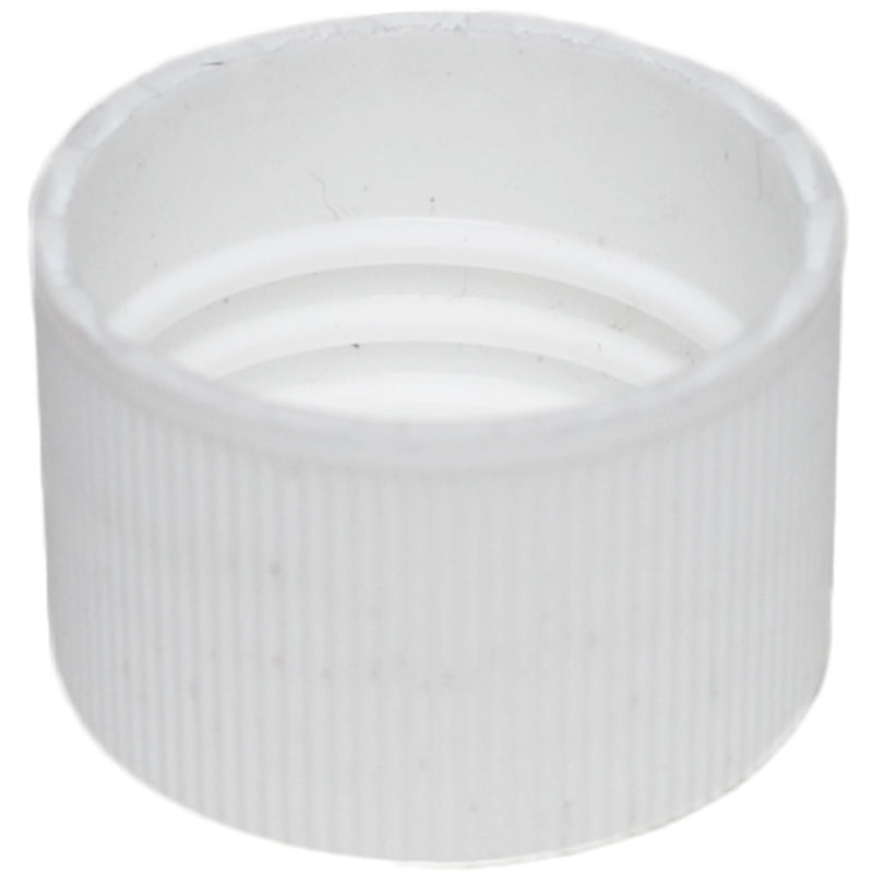 24-410 White Ribbed Caps w/ F-217 Sureseal Foam Liner (Inside)