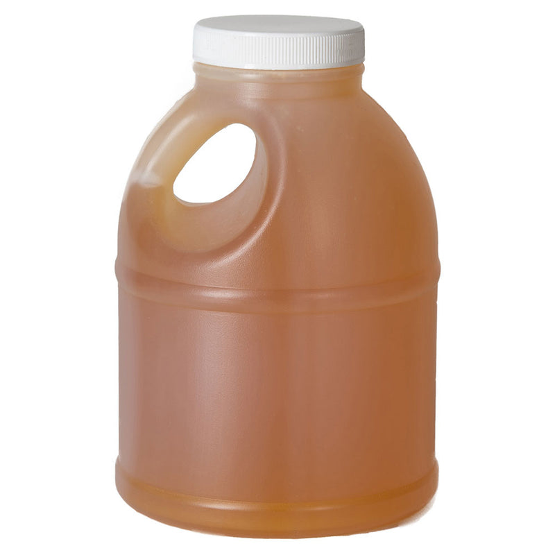 32 oz. (3 lbs.) Natural HDPE Round Plastic Honey Jug (53-400) with optional cap