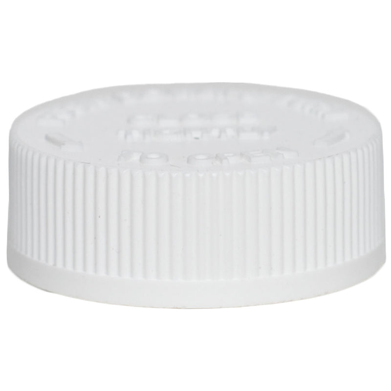 38mm (38-400) White Child Resistant Caps w/ HIS Liner