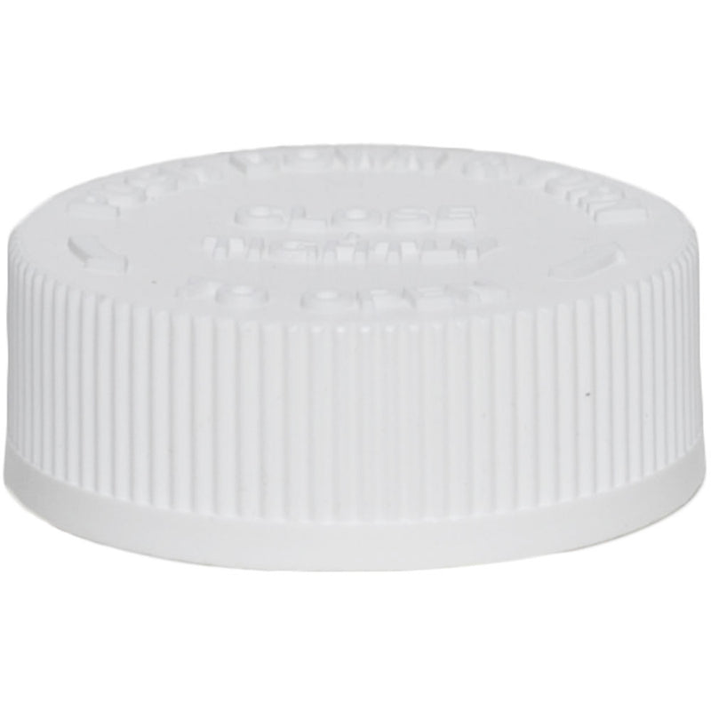 38mm (38-400) White Child Resistant Caps w/ PS-22 Liner