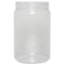 32 oz. Clear PET Plastic Round Jars (89-400)