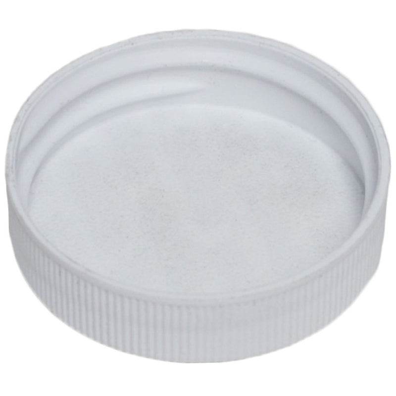 38-400 White Ribbed Caps w/ PS-22 Pressure Seal Liner (Inside)
