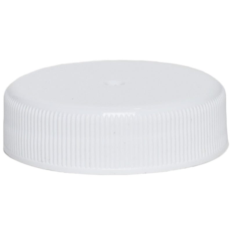 38-400 White Ribbed Caps w/ PS-22 Pressure Seal Liner