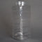 33 oz. Clear PET Square Plastic Spice Bottles-angle view
