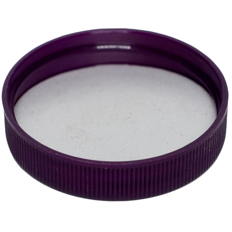 48-400 Purple Ribbed Caps w/ PS-22 Pressure Seal Liner (Inside)