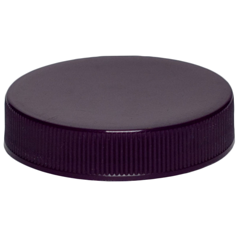 48-400 Purple Ribbed Caps w/ PS-22 Pressure Seal Liner