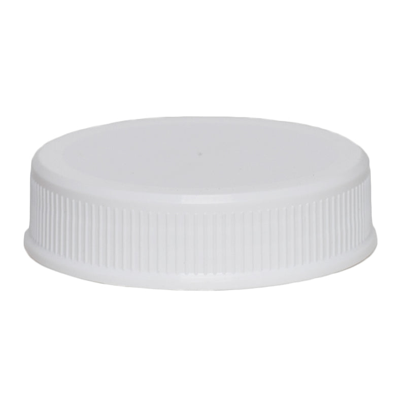 63-485 White Ribbed Caps w/ PS-22 Pressure Seal Liner