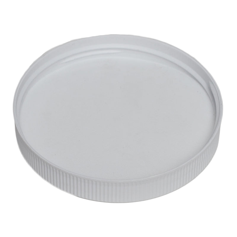 89-400 White Ribbed Caps w/ F-217 Sureseal Foam Liner (Inside)