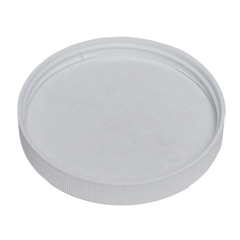 89-400 White Ribbed Caps w/ PS-22 Pressure Seal Liner (Inside)