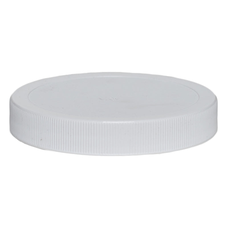 89-400 White Ribbed Caps w/ PS-22 Pressure Seal Liner