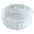 38mm (38OI), Clear, Unlined, Polypropylene Plastic Juice Cap
