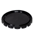 5 Gallon Black 24 Gauge Steel Pail Lids, UN Rated