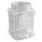 40 oz. Clear PET Square Plastic Jar-each