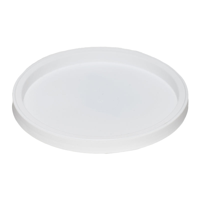 White LLDPE Plastic Recessed Tub Lids, L410