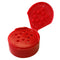 43-485 Red Dispensing Closure, Flip Top - Sift, .125 Holes