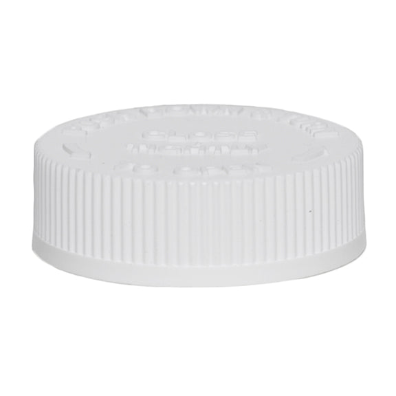 45mm (45-400) White Child Resistant Caps w/ PS-22 Liner
