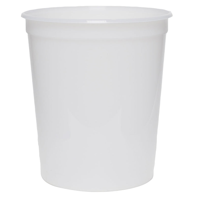 32 oz. Natural PP Plastic Tubs, L410