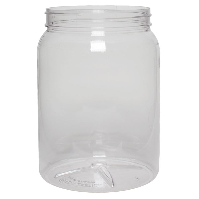 64 oz. Clear PET Plastic Wide Mouth Bottles (110-400)