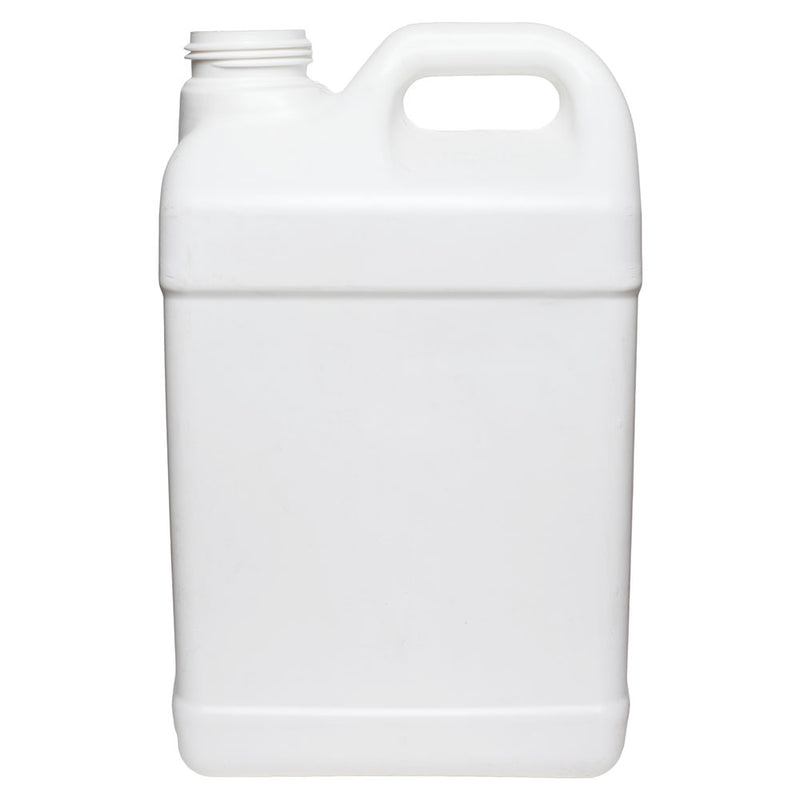 2 ½ Gallon White HDPE Plastic F-Style Bottles (63mm)