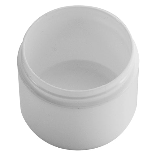 4 oz. White PP Plastic Double Wall Jars, Round Base (70-400)
