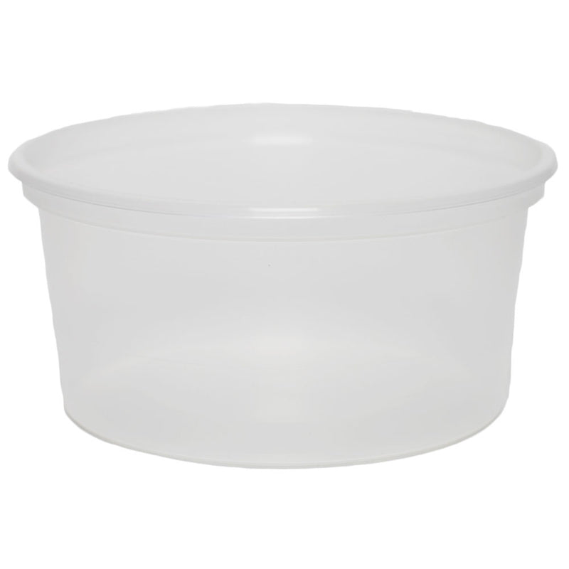 12 oz. Natural PP Plastic Tubs, L410